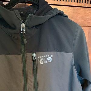 Mountain hardware jacket with hood
